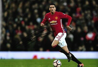 CHRIS SMALLING - Hand Signed 12x8 Photo - Manchester Man United - Football
