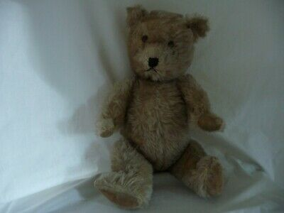 """Antique Chiltern Hugmee 20"""" Teddy Bear Mohair Stitched Nose Vintage British Toy"""