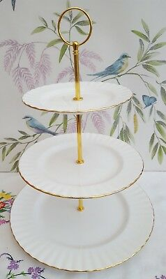 """Royal Albert """"Val D'or"""" XL 3-tier cake stand  ***REDUCED TO CLEAR***"""