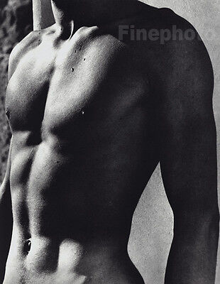 1936/1988 Herbert List Vintage Male Nude Athens Greece Body Torso Photo Gravure