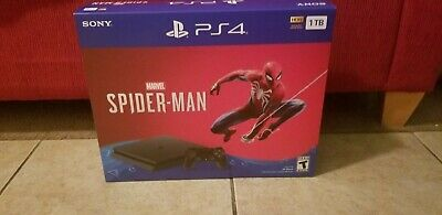 Sony PS4 Playstation 4 1TB Marvel Spider-man Video Game Console Bundle - Black