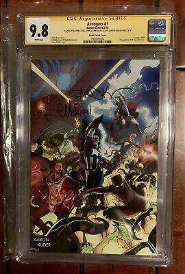 Cgc Ss 9.8 Avengers # 1 Young Guns Signed 3X Kuder Maguinness Aaron