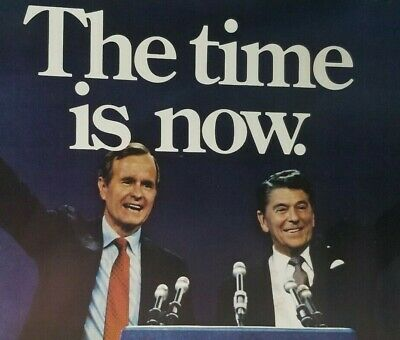 1980 Ronald Reagan Campaign Poster with George Bush