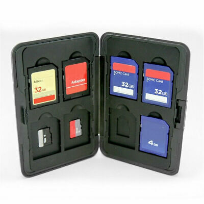 16 in 1 Micro SD Memory Card Storage Carrying Case Holder Box Aluminum Silver