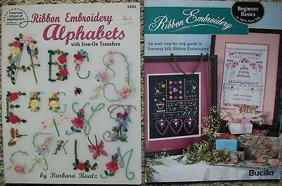 Silk Ribbon Embroidery Alphabets Iron on Transfers Barbara Baatz Patterns Basics