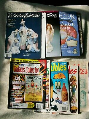 Collector Editions Antique Traders Collectibles Hobbies Magazine Lot 10 VTG