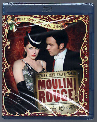 Moulin Rouge 2001 Blu-ray Disc New Sealed Region A Nicole Kidman Tear in Cover