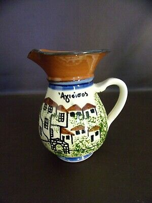 Hand Painted Red Clay Pottery Creamer/Pitcher