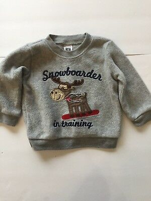 Carter's Baby Boy's Gray Long Sleeve Pullover Sweatshirt Size 9 Months