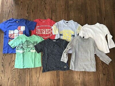 EUC- Lot Boys Clothing Baby Gap, Old Navy Fall  Short & Long  Sleeve Shirts - 4t