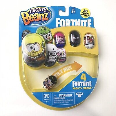 Mighty Beanz Fortnite 4 Pack Sealed (New) Epic Official Toy