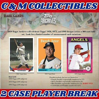 CAVAN BIGGIO 2019 Topps Archives 2 Cases 20 Boxes Player Break Lot BLUE JAYS RC