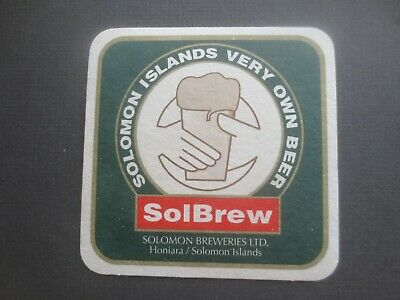 1 only SOLOMON BREWERIES ,Honiara, Issued collectable BEER COASTER