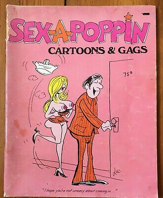 Sex-A-Poppin Cartoon And Gags 1979 Rated R Vintage Comic book +Free Post