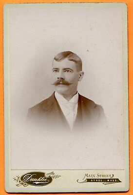 Athol, MA, Portrait of a Young Man, by Dunklee, circa 1890s