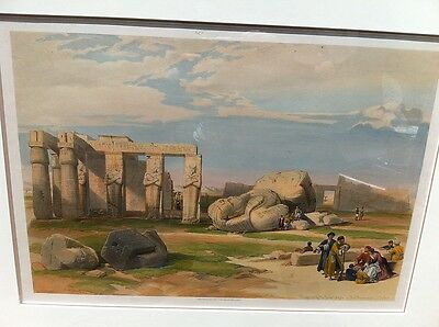 David Roberts Egypt Large 1st edition Ramesses II Thebes Rare large print