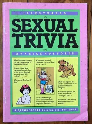 Sexual Trivia Cartoons 1984 Rated R Vintage Comic book +Free Post