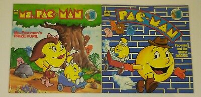Pac-man & Ms Pac-man Book Lot 1983 The Ghost Diggers & Prize Pupil