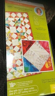 "NEW Accuquilt GO! Fabric Cutting Die Quarter Square 4"" Finished Triangle # 55047"