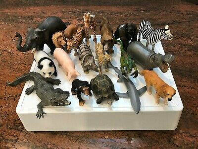 Schleich animals x 18 (used - mixed range as displayed)