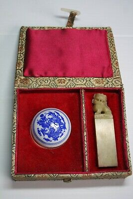 Chinese Carved Soapstone Personal Seal