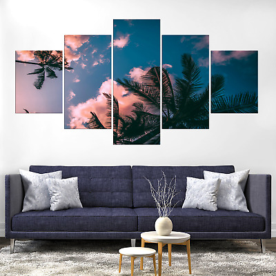 Coconut Palm Tree Canvas Print Painting Framed Home Deco Wall Art Picture Poster