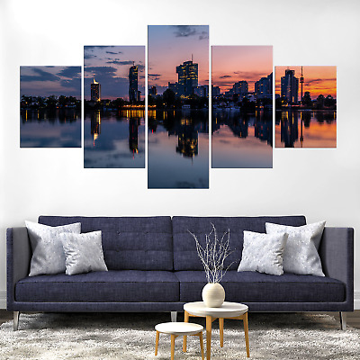 Vienna Skyline Cityscape Austria Canva Print Painting Home Deco Wall Art Picture