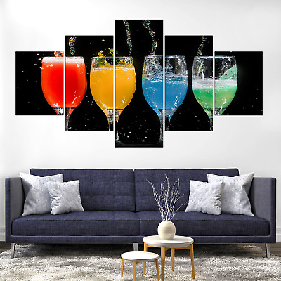 Alcohol Beverage Cocktail Canva Print Painting Framed Home Deco Wall Art Picture