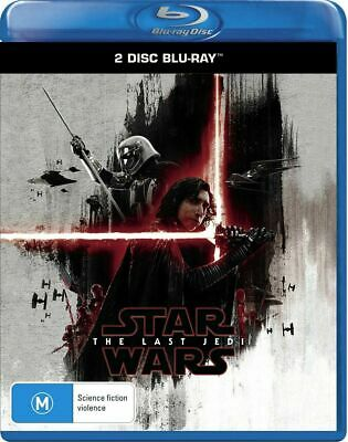 STAR WARS THE LAST JEDI New Blu-Ray (2 Disc) MARK HAMILL CARRIE FISHER ***
