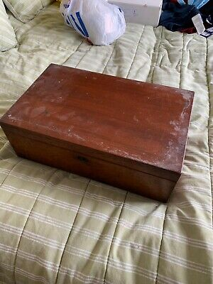 Antique Rosewood Writing Slope Box