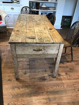 Antique French Kitchen Table
