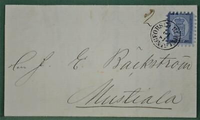 Finland Stamp Cover Entire 1865 To Mustiala  (V83)