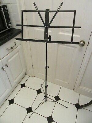 Foldable Music Stand Holder Base Tripod Orchestral Conductor Sheet