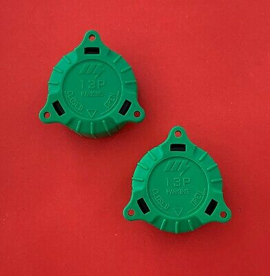 2 x Replacement 13 Pin Alignment Green Caps/Plug Keeper for Trailer or Caravan