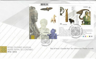 2014 -FDC - Canada - Royal Ontario Museum Permanent stamp, (New )