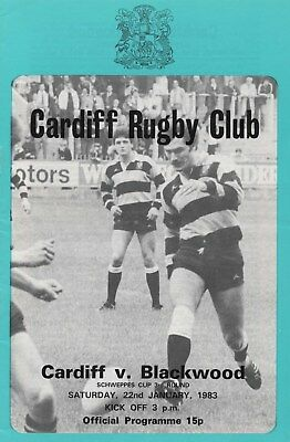 Jan 83 CARDIFF v BLACKWOOD Schweppes Cup