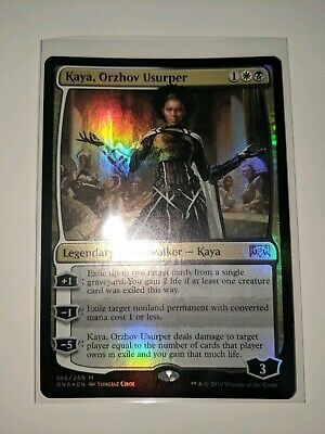 Foil Kaya Orzhov Usurper Mtg Ravnica Allegiance Magic Cartas Sueltas She was loathed upon spoiler and deemed by many to be unplayable. professia
