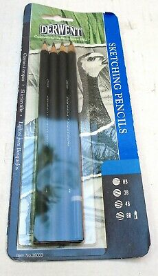 DERWENT Set of 4 Graphic Sketching Pencil Set NEW & SEALED IN PACKAGE