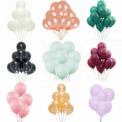 50pcs 10 inch Colorful Pearl Latex Balloon Celebration Party Wedding Birthday