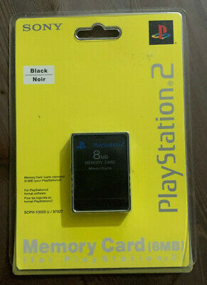 Playstation 2 Black 8MB Memory Card - New PS2 Official