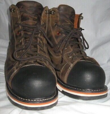 """TIMBERLAND PRO Gridworks 6"""" Soft Toe Brown Work Boots Men's 14 W"""
