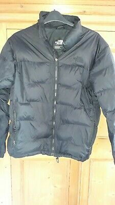 The North Face Mens Nuptse 700 Goose Feather & Down Black Puffer Jacket Size L