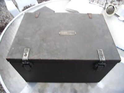 Wwii 1944 Us Army Signal Corps Dove Tail Wood Chest Ra-87 Rectifier Box, Ch-158