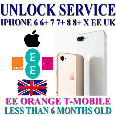 Factory Unlock Service iPhone EE UK 100% service iPhone 66+6S77+8X Less than 6 m