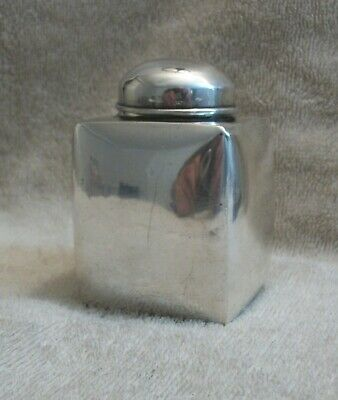 Sterling Silver Small Square Tea Caddy