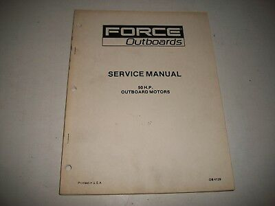 Force Outboards  50 Hp Service Shop Repair Manual Ob 4129