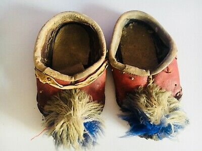 Antique Childrens  Shoes  leather shoes early 1900 Turkish