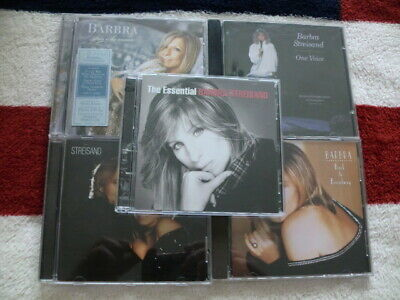 5 x BARBRA STREISAND CD's inc ESSENTIAL / ONE VOICE / GUILTY TOO  / BROADWAY 99p