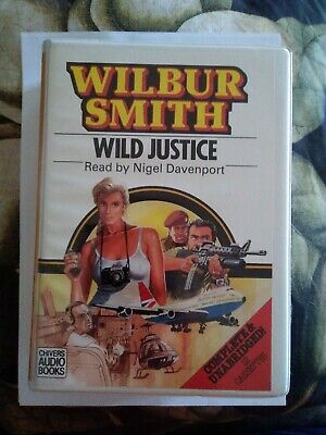 Wilbur Smith Wild Justice Audio Cassettes Unabridged Version Excellent Condition