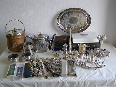 Large job lot of vintage and antique silver plated items and cutlery - 6.4 kg